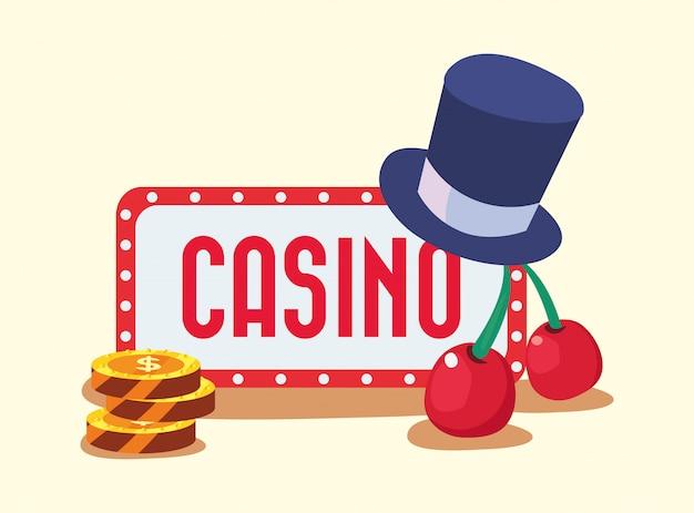 Casino game bets Premium Vector