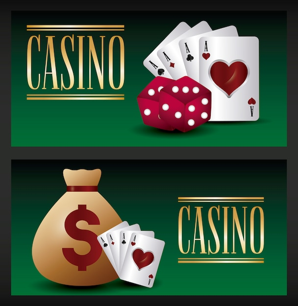 Casino game Free Vector