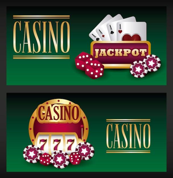 Casino game Free Vector