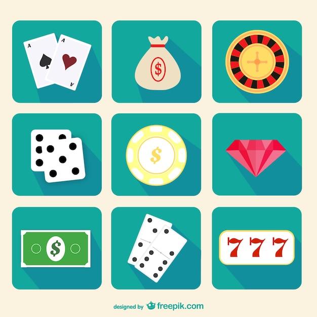 Casino game icon vector