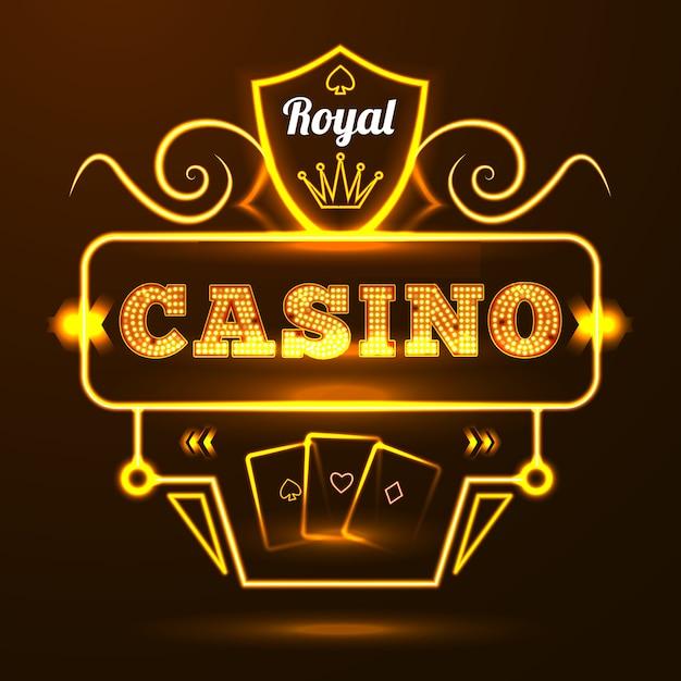 Casino neon sign Free Vector
