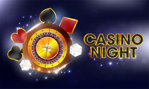 Casino night background. Premium Vector