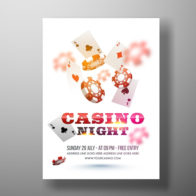Casino night flyer template casino nb power outage