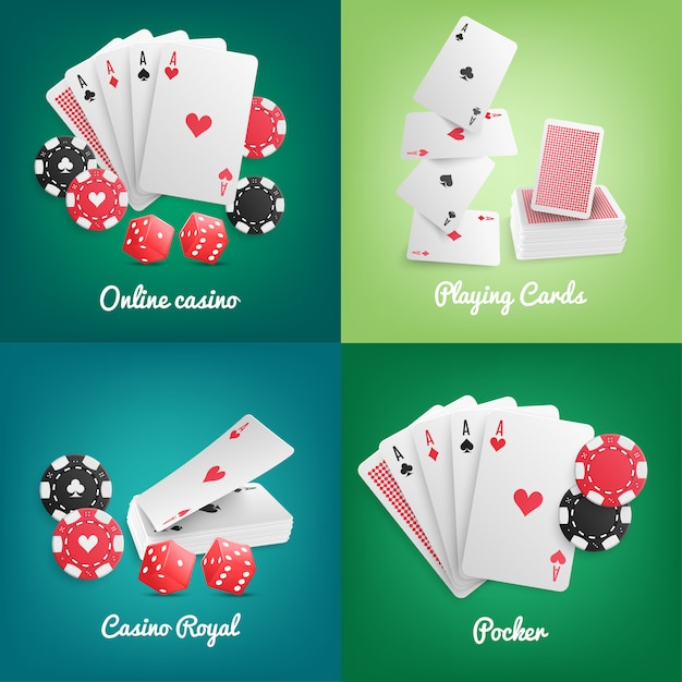 Casino online realistic Free Vector