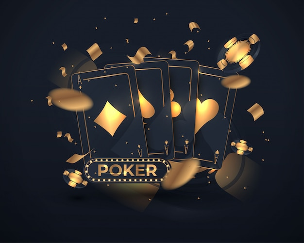 Casino poker card design Premium Vector