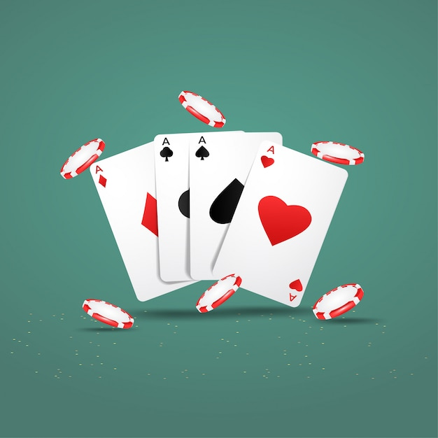 Premium Vector Casino Poker Design With Playing Cards And Chips