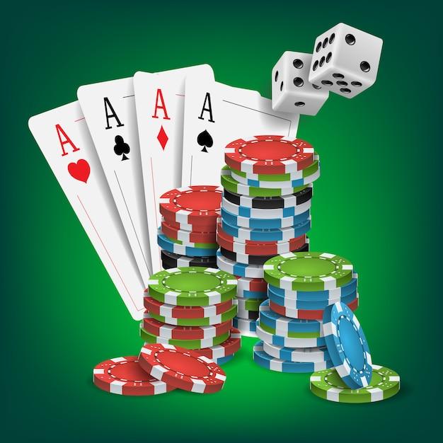 Casino poker design Premium Vector