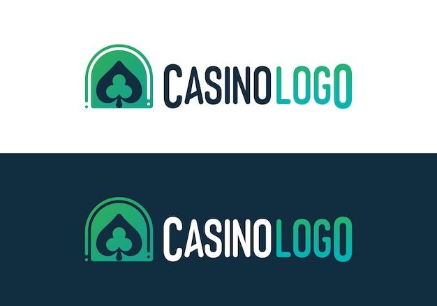 Логотип казино покер Premium векторы
