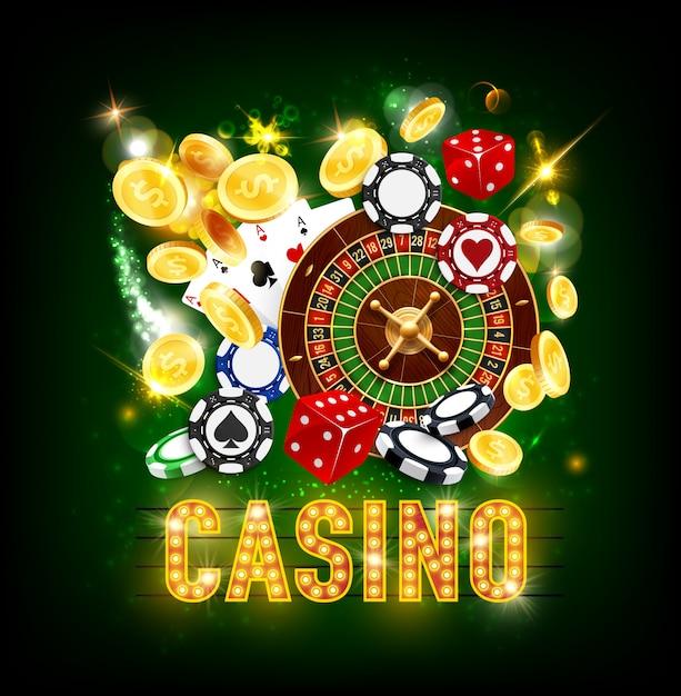 Казино покер джекпот золотые монеты всплеск выиграть Premium векторы