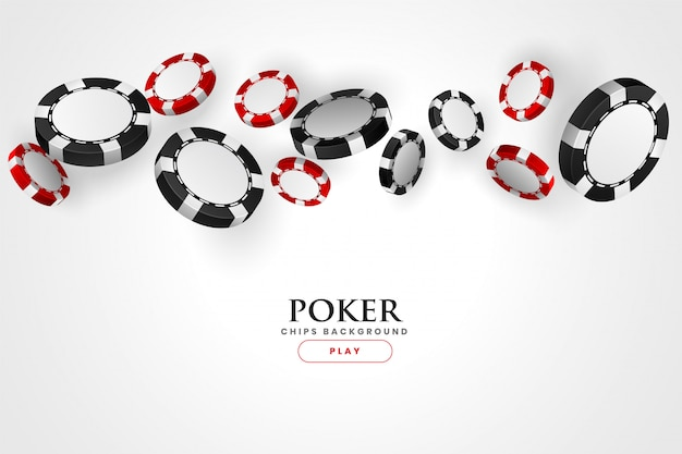 Priorità bassa dei chip rossi e neri del poker del casinò Vettore gratuito