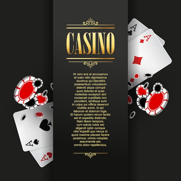Casino poster or banner background Premium Vector