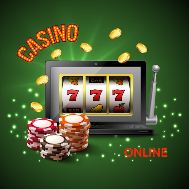 Casino realistic composition Free Vector