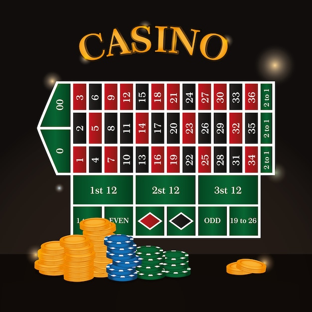 Casino roulette leisure game concept vector illustration graphic design Premium Vector