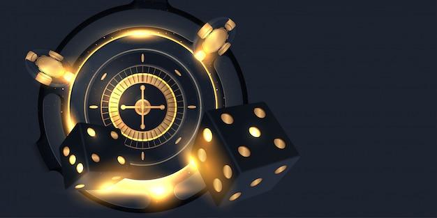 Casino roulette wheel isolated Premium Vector
