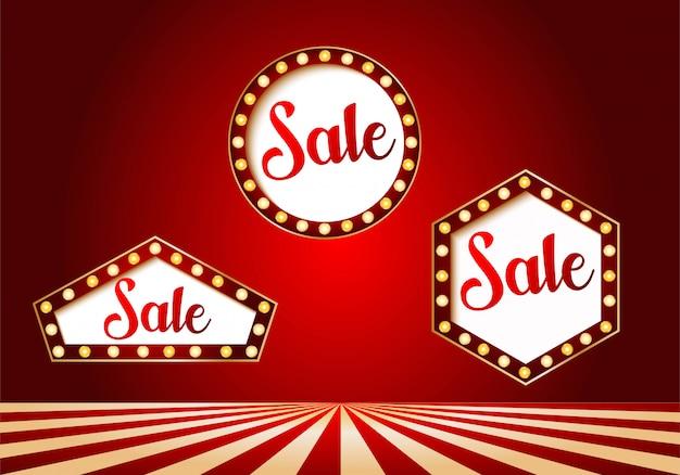 Casino sale banner set design Premium Vector