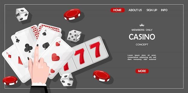 Casino site template concept for members Premium Vector