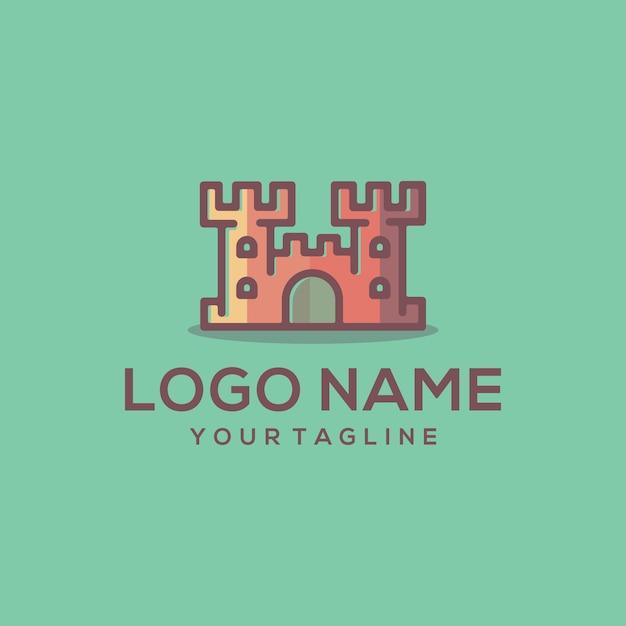 Castelのロゴのベクトル Premiumベクター