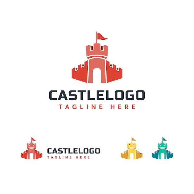Castle logo template Premium Vector
