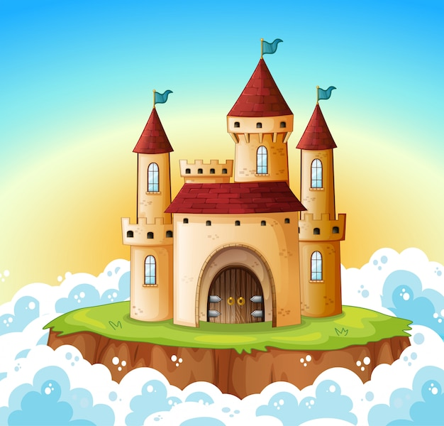 A castle on the sky Free Vector