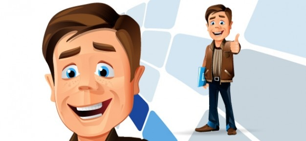 Casual businessman vector character Vector | Free Download