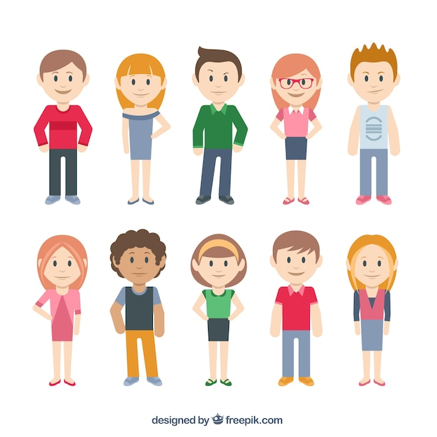 Swell Casual Characters Vector Free Download Hairstyles For Women Draintrainus
