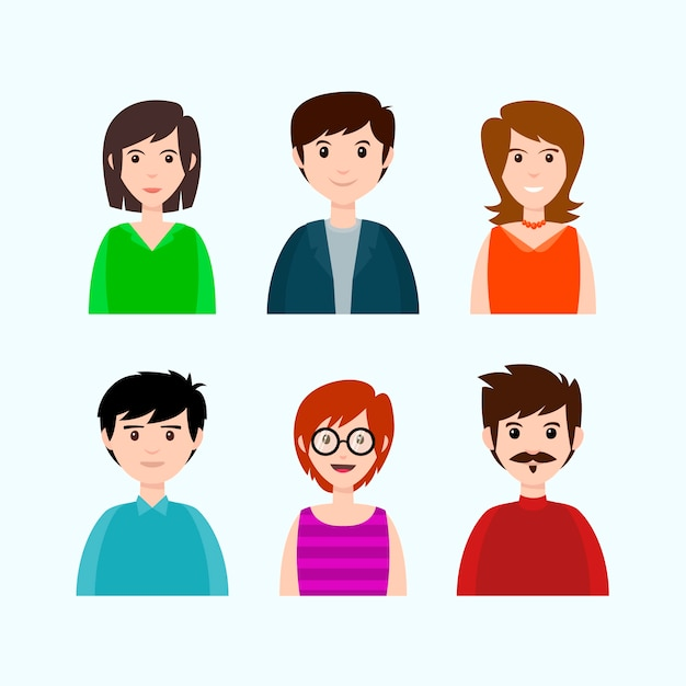 Casual and office clothes on people Free Vector
