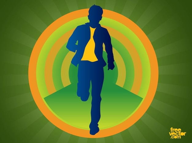 Casual wear Man in motion vector