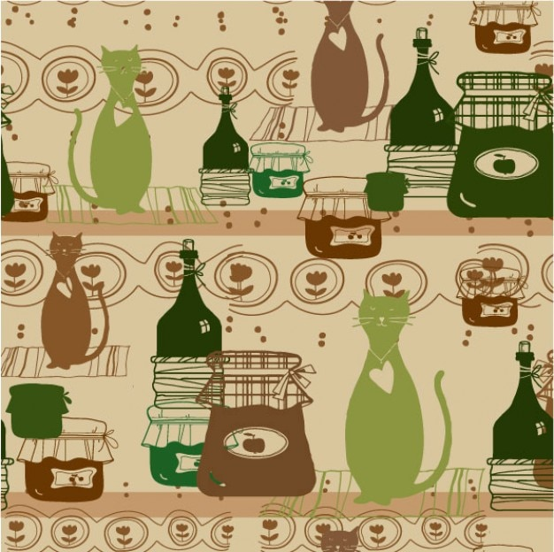 Background Cats Cat Cartoon Background Free