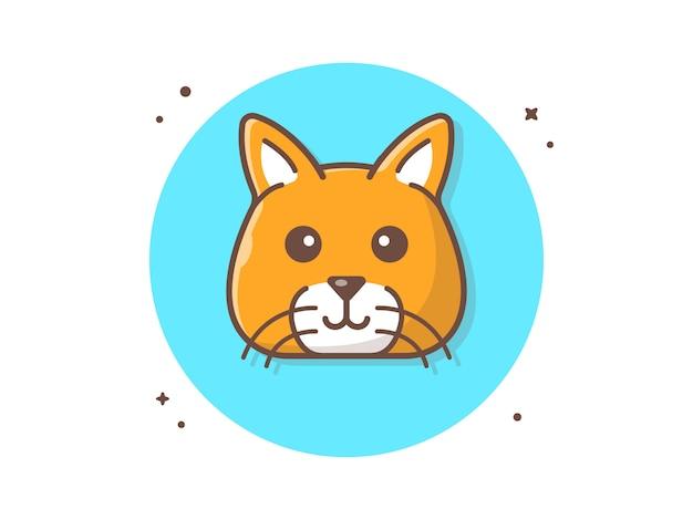 Cat head vector icon illustration Premium Vector