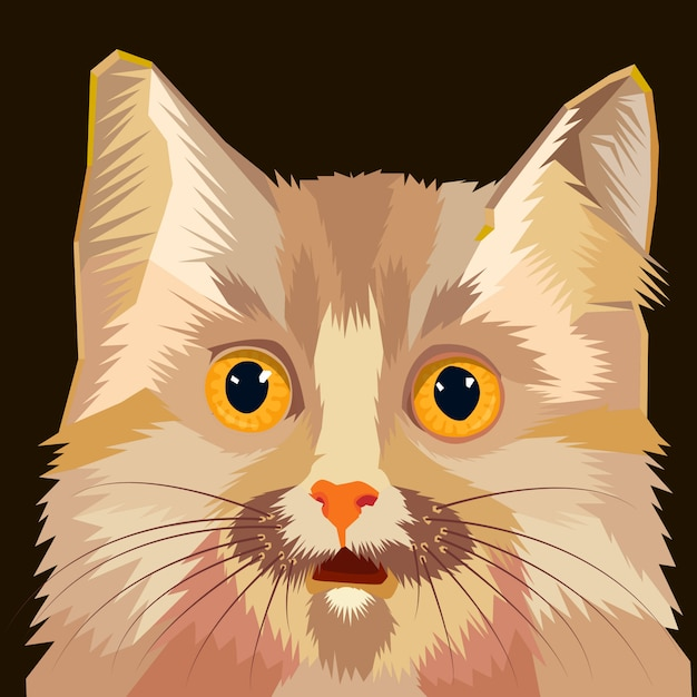 Cat head vector illustration Premium Vector