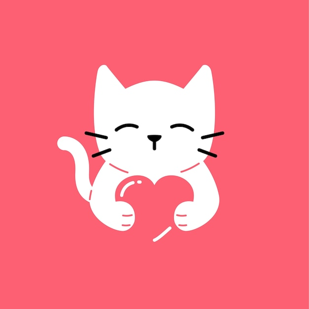vector cat cute icon hug lover illustration cats smile premium pet vectors dog hoping summer exclusive users freepik