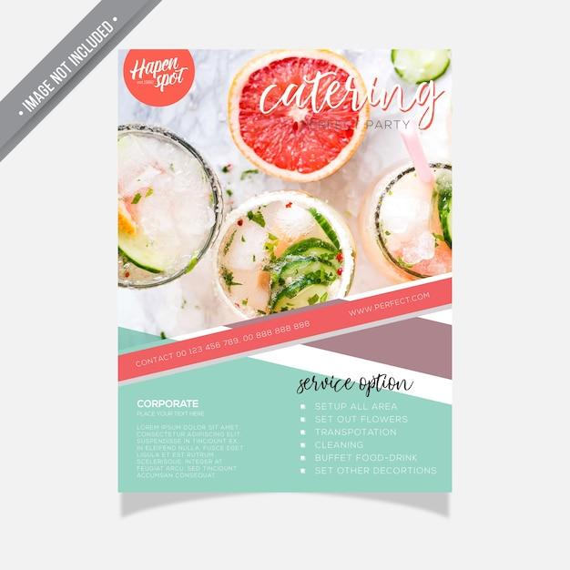Catering Brochure Template Vector Premium Download - Catering brochure templates