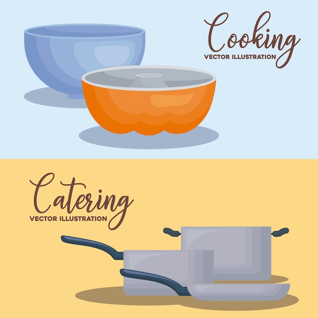 Catering concept Free Vector