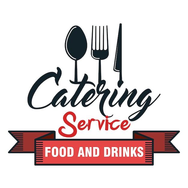 Premium Vector | Catering delicious food icon