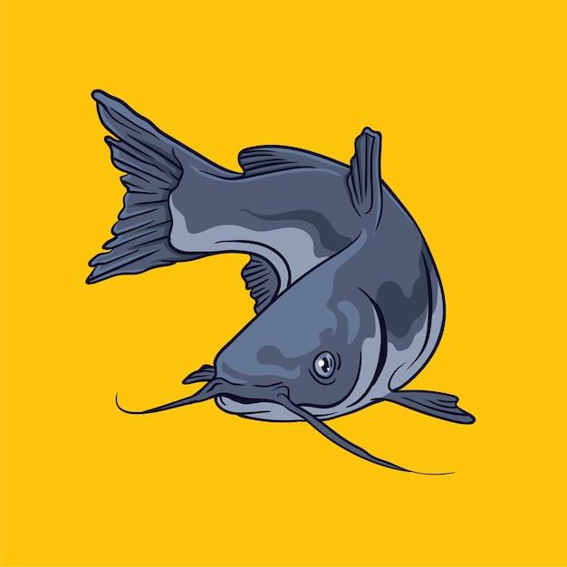 Catfish vector illustration Premium Vector