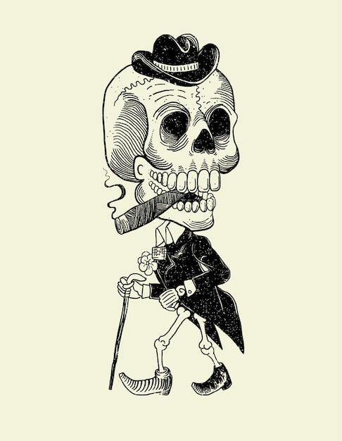 Catrin mexican skull Premium Vector