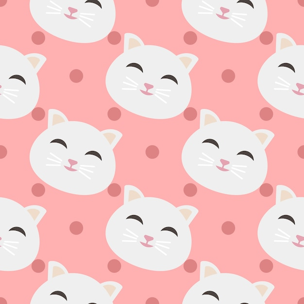 cats pattern background vector free download