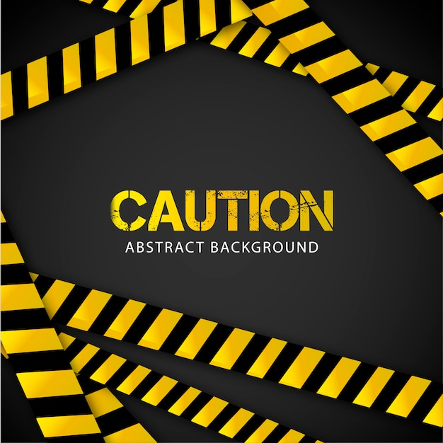 Caution background Free Vector