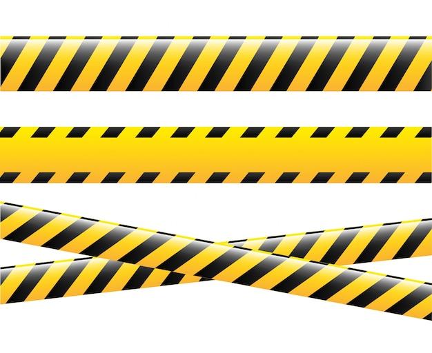 Caution design over white background vector illustration Premium Vector