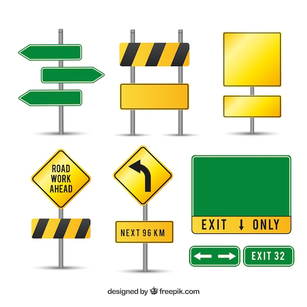 road sign vector  Caution road signs Vector | Free Download