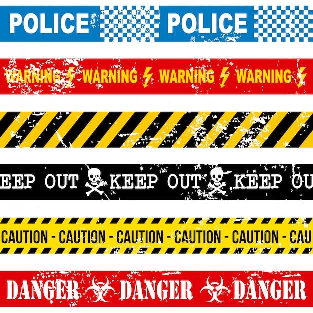 Caution tape over white background vector illustration Premium Vector
