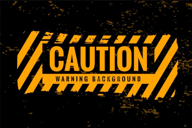 Caution warning background with yellow and black stripes Free Vector