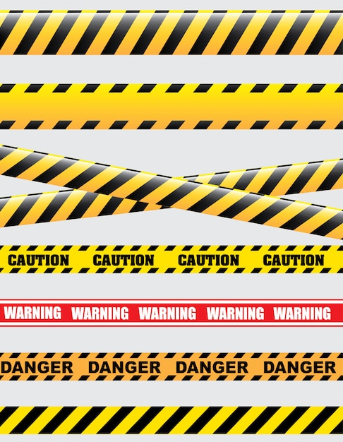 Caution Free Vector
