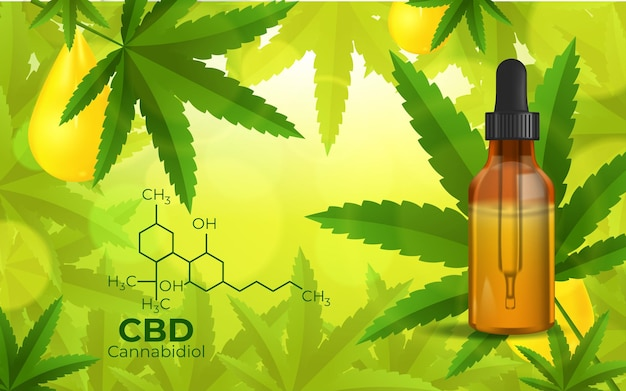 Cbd chemical formula, growing marijuana Free Vector