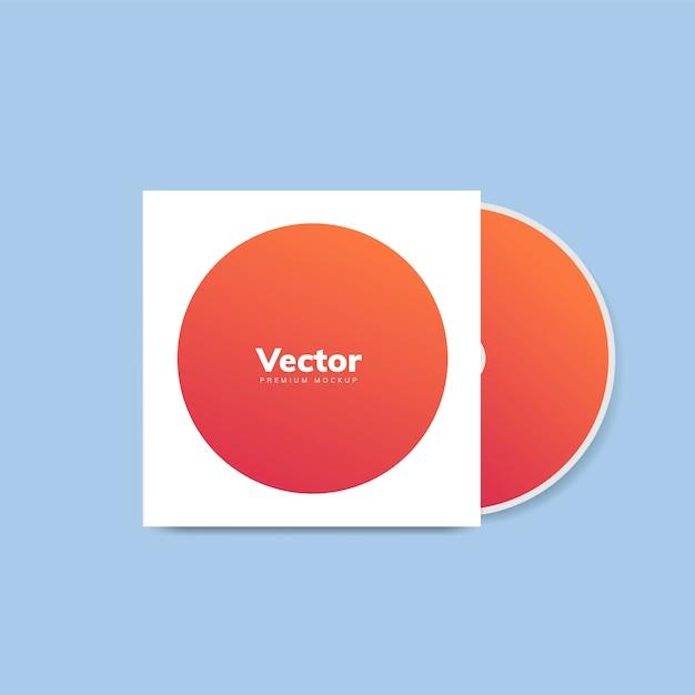 Cd cover design mockup vector Free Vector