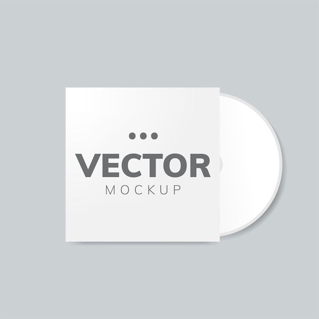 Cd cover design mockup Free Vector