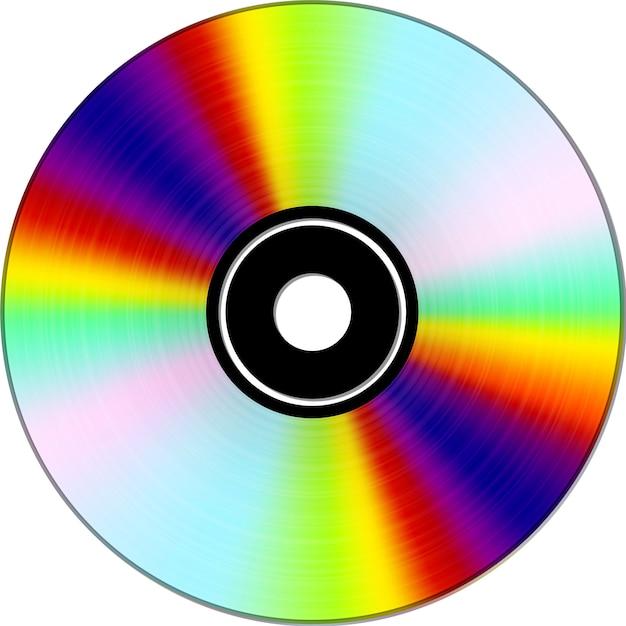 Cd or dvd. digital information medium Premium Vector
