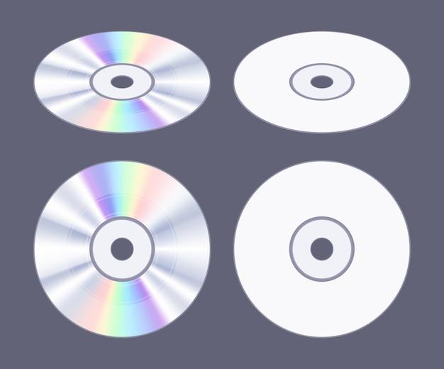 等尺性フラットcd-dvdディスク Premiumベクター