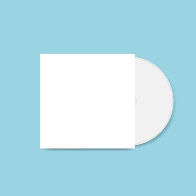 Cdカバーデザインモックアップベクトル 無料ベクター