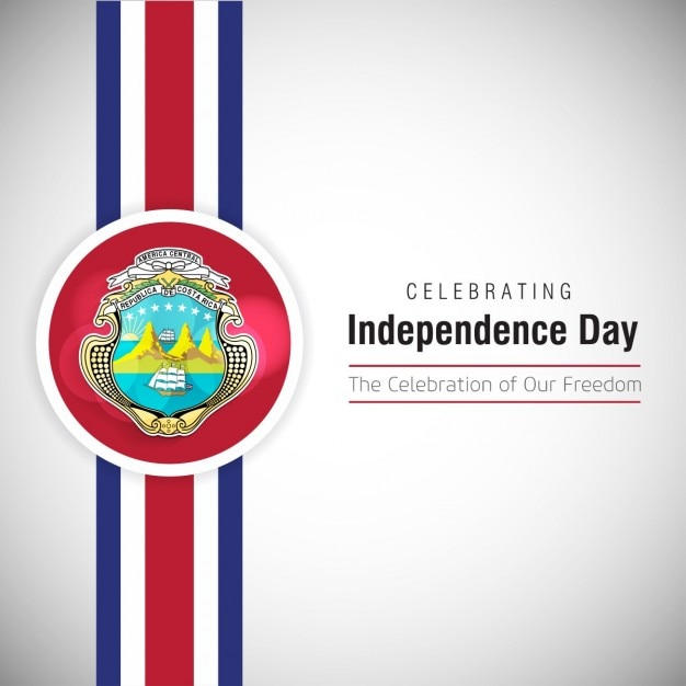 Celebrating costa rica independence day Free Vector